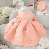 Flower Toddler Baby Girl Infant Princess Dress Baby Girl Wedding Dress Hat 2pcs Lace Tutu Kids
