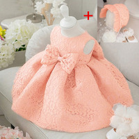 Flower Toddler Baby Girl Infant Princess Dress Baby Girl Wedding Dress Hat 2pcs Lace Tutu Kids