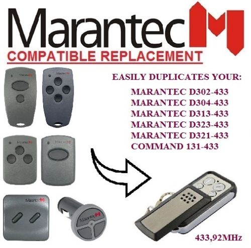 Marantec Garage Gate Digital 302 304 313 Comfort 220 250 252 Remote Control Duplicator Clone 433.92mhz Fixed Code