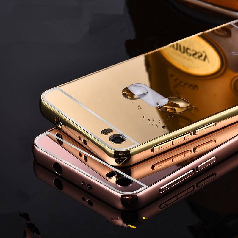 Xinchentech för Huawei Honor 6 Case lyxspegel Metal Aluminium Frame - Reservdelar och tillbehör för mobiltelefoner - Foto 1