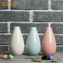 Скандинавские домашние гладкие керамические цветочные горшки, мини-ваза, свадебные украшения для дома и офиса, декоративные изделия для растений