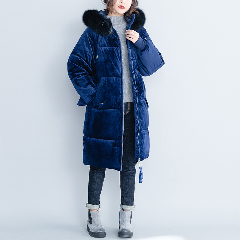 Women Thicken Warm   Down     Coats   Oversize Loose Winter Outerwear Parkas Medium Long Hoodies Jacket