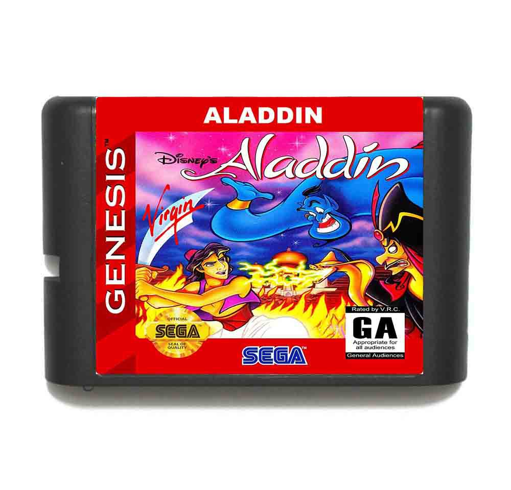 Aladdin 16 bit MD Game Card For Sega Mega Drive For Genesis mickey mouse castle of illusion