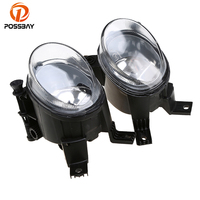POSSBAY Yellow Car Light Front Fog Light Lower Bumper Foglamp Fit for Audi A4/Avant 2005 2008 12V 55W Bulbs