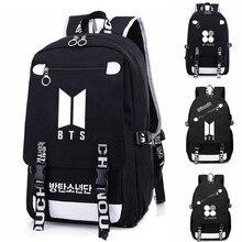 Fashion Cool KPOP  Bangtan Boys Backpack Backpack Bag School Book Zipper Bags Laptop Backpack women/men JIMIN JUNGKOOK bag