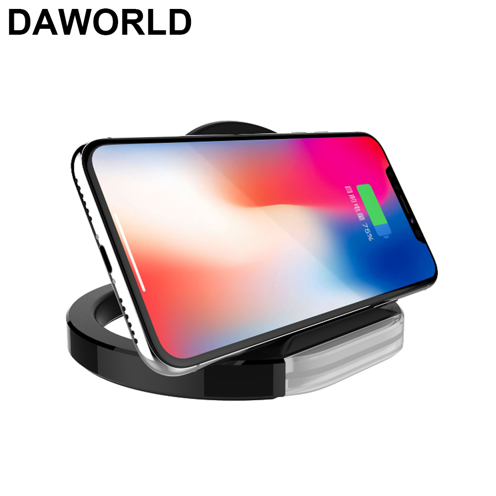 DAWORLD Qi Wireless charger Quick Fast wireless charger for samsung iphone8/plus/8X