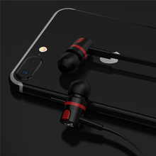 Striped Design Earphones with Microphone