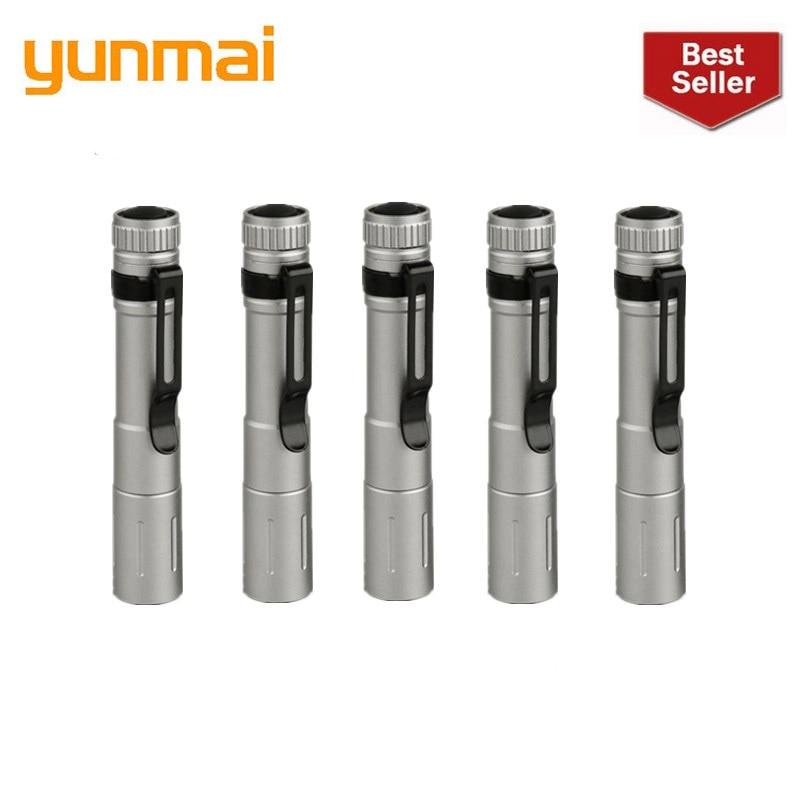 2019 New Yunmai 6pc Wholesale Dropshipping Portable Mini Penlight Q5 2000LM LED Flashlight Torch Pocket Light Waterproof Lantern
