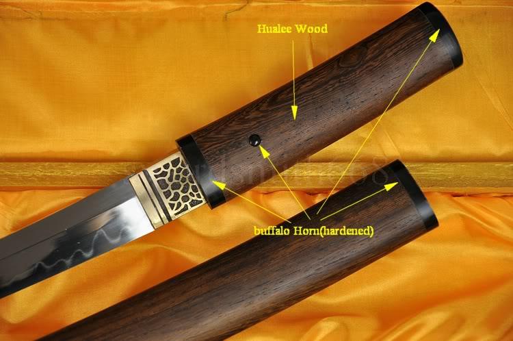 1095 yüksək karbon polad gil Tempered Yapon Samurai Qılınc TANTO - Ev dekoru - Fotoqrafiya 3