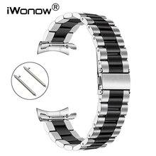 Ремешок из нержавеющей стали для Samsung Galaxy Watch 46 мм Gear S3, быстросъемный браслет без зазора, серебристый и черный