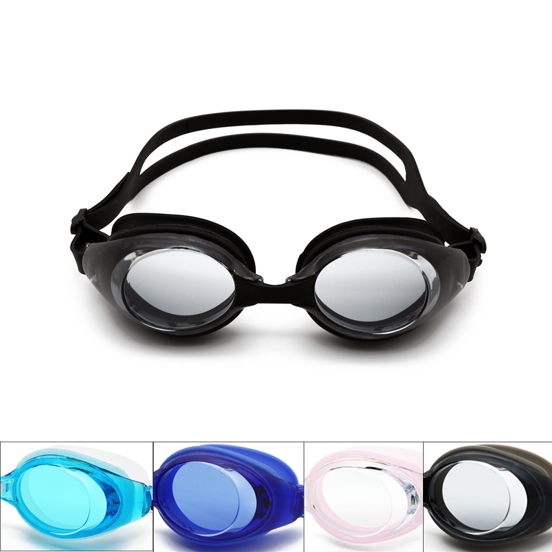 Adult Men Womens HD Flat Light Silicone Swimming Goggles anti-fog Waterproof Frame Pool Sport Eyeglasses Waterproof Spectacles