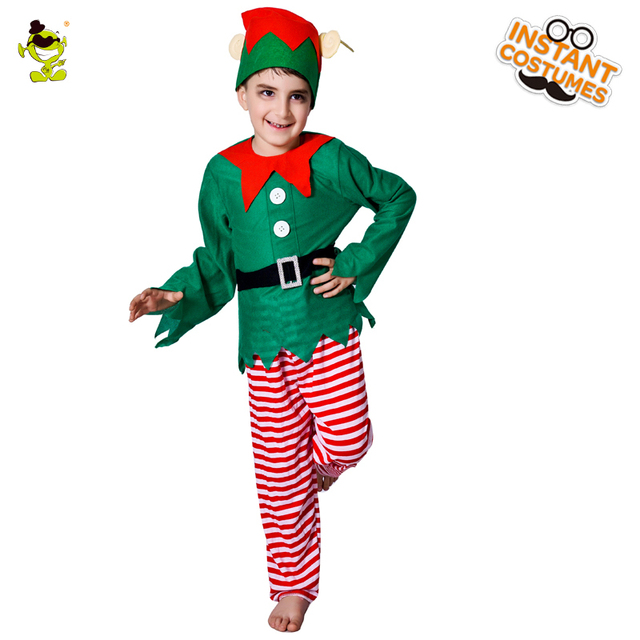 Smart Green Elf Costumes Little Boys Christmas Carnival Party Forest Fairy Imitation Fancy Dress for Children  sc 1 st  AliExpress.com & Smart Green Elf Costumes Little Boys Christmas Carnival Party Forest ...