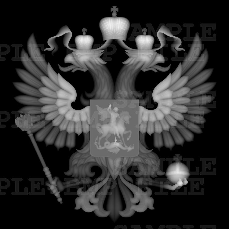 Emblem of Russia 3d model for cnc in BMP file format ...