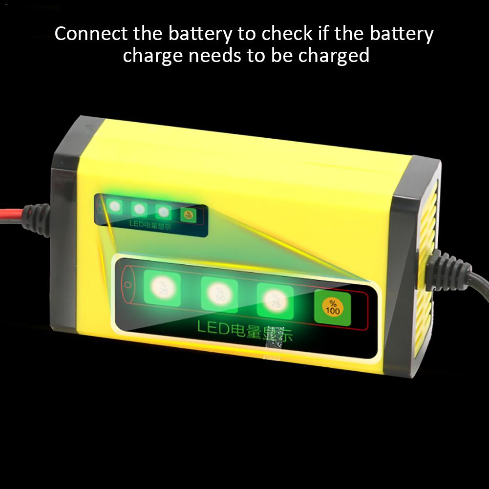 12V 2A MP00205A 800mA Fully Automatic Battery Charger/ Maintainer For Motorcycles Cars Ships ATV RVS Powersports US Plug