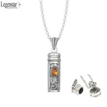 Legenstar подвеска в виде бутылочки парфюма ожерелье мемориальная Пепельница на память с камнями по месяцу рождения диффузор медальон любовник ожерелье для женщин подарок
