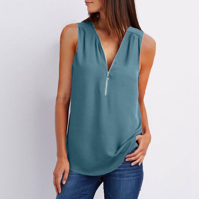 Image 5 - New 2019 Fashion Women Sexy Summer Tops Casual Sleeveless Tank Top Plus Size Women Blouse Ladies Large Sizes T Shirt Top 4XL 5XL-in Tank Tops from Women's Clothing