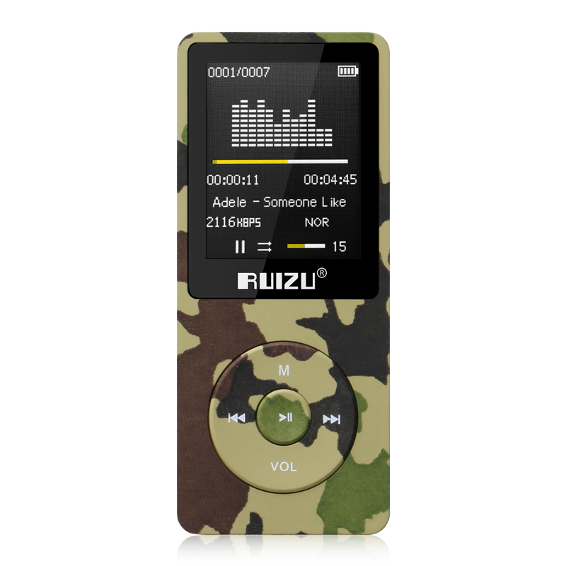 RUIZU X02 MP3 Player 4G/8G/16G Portable Mp3 Can Play 80 hours With FM Radio E-Book,Clock Voice Recorder Free Original Earphone