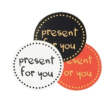 90Pcs/lot Hot Sale 'present for you' Design Sticker Labels Food Seals Gift Stickers For Wedding Seals White/Black/Red 3 Color