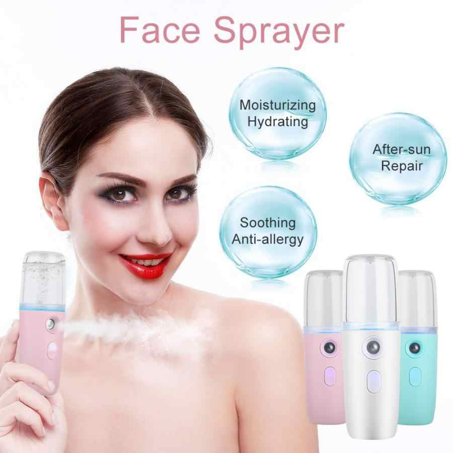 Micro Needle Roller 30ML Handheld Nano Facial Mist Cold Spray Hydrating Sprayer Humidifier Atomization Mister Face Care a