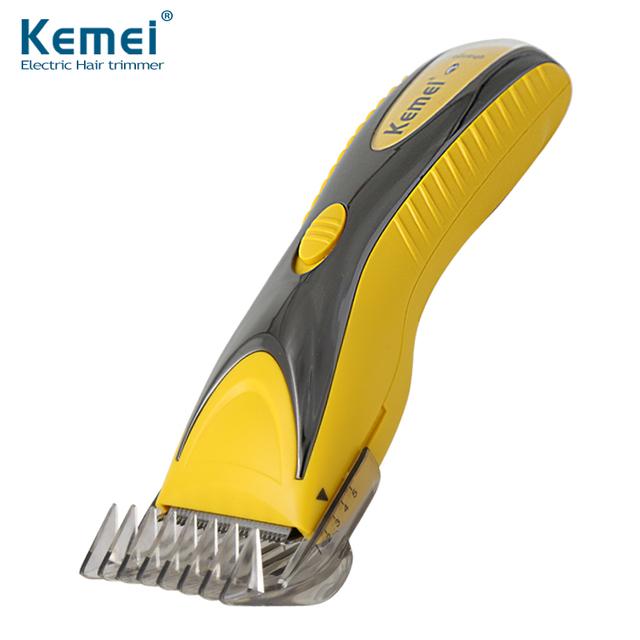 Kemei KM-1602 Impermeable Profesional de Pelo Eléctrico Clipper Trimmer razor máquina de Afeitar Recargable Sin Cuerda de Pelo Ajustable