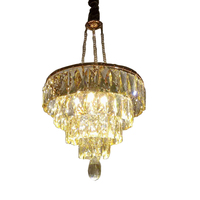 French Creative Crystal Pendant Light European Style Dia 40cm Hanging Light Art Decoration Home Parlor Hotel