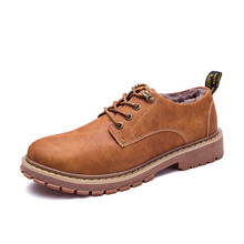 цена на Autumn Winter Warm Fur Male Genuine Leather Casual Shoes For Men Adult Brand Work High Quality Walking Footwear Man