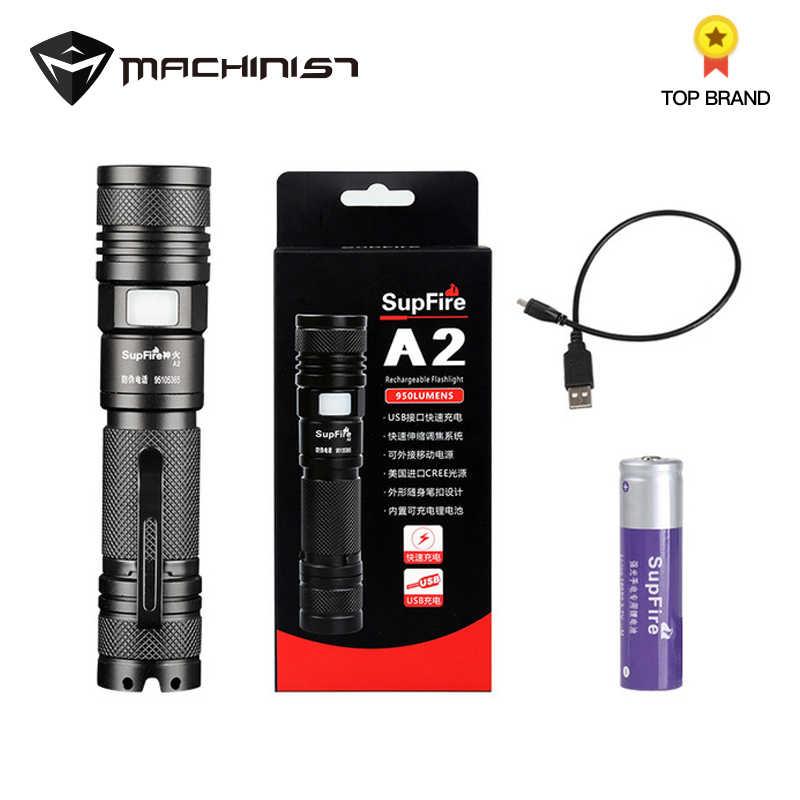 Светодиодный фонарь USB Зарядка 18650 Zoom Light тактический фонарь ручной Электрический фонарь Olight