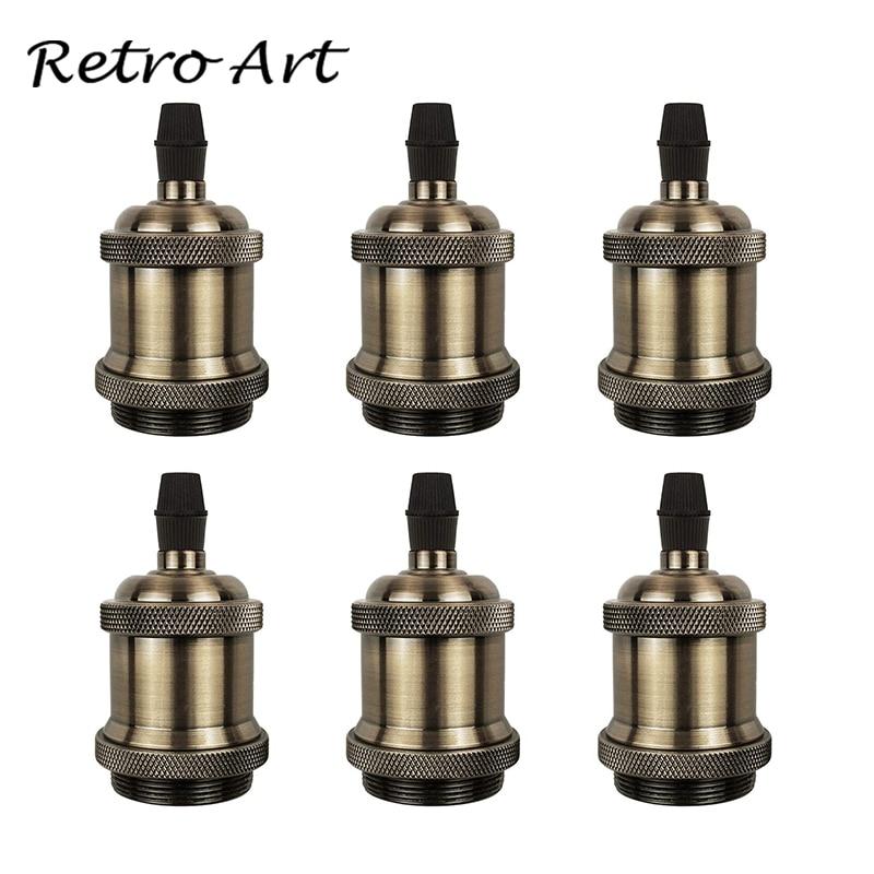 Vintage Lamp Socket Edison Screw Lamp Holder E27 Bulb Bases