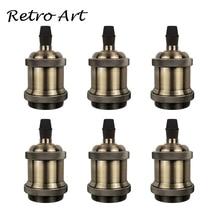 Zócalo de lámpara Vintage Edison tornillo soporte de lámpara E27 Bases de bombilla