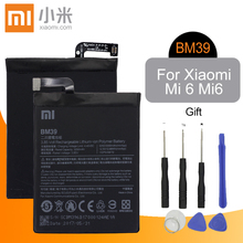 Оригинальный сменный аккумулятор Xiao Mi BM39, 3250 мАч, высокая емкость, высокое качество, для Xiaomi Mi 6 Mi6 + Бесплатные инструменты
