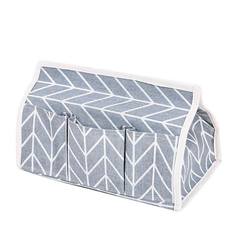 Tissue Box Napkin Holder Remote Controller Storage Bin Office Multifunction