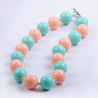 2015 New Fashion Kids Candy Acrylic Beads Necklace Children Chunky Bubblegum Necklace For Cute Girl Baby Children
