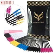 Best Deal 200PCS Colourful Make Up Brush Synthetic Fiber One-Off Disposable Eyelash Brush Beauty Cosmetic Makeup Tools