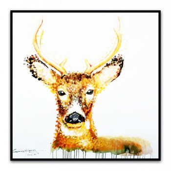 Hand Painted Cartoon Oil Painting on Canvas  Abstract Animal Wall Art for Home Decoration Original  OilPainting       YC018