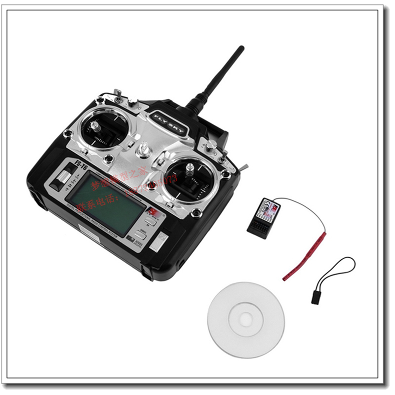2.4G  FS-T6 remote control model Travel channel helicopter model aircraft rc controller transmitter for airplane plane aircraft yizhan i8h 4axis professiona rc drone wifi fpv hd camera video remote control toys quadcopter helicopter aircraft plane toy