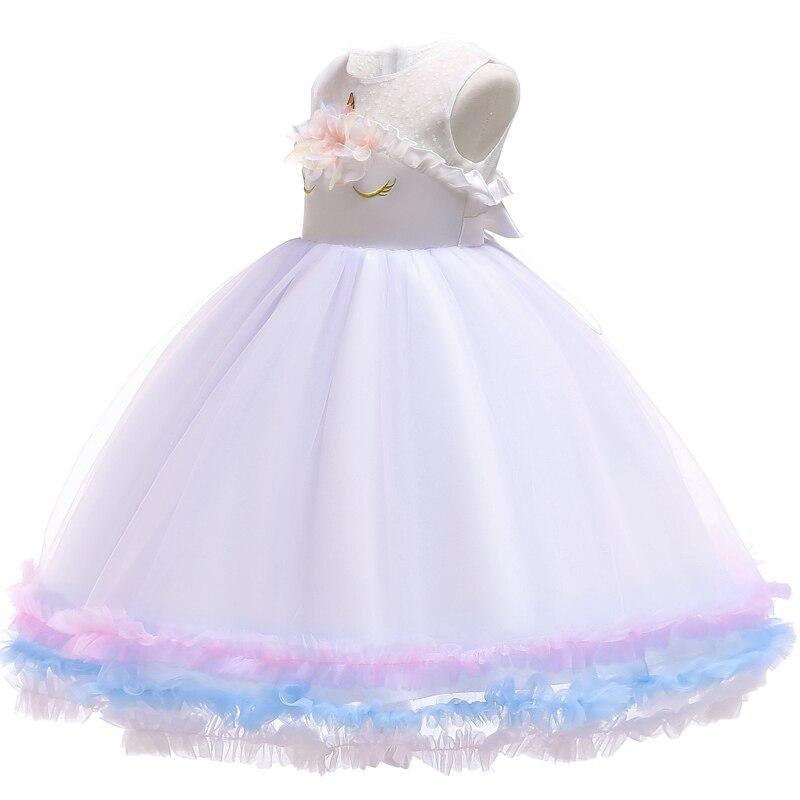 HTB1j5c.aiLrK1Rjy1zdq6ynnpXa6 Unicorn Dresses For Elsa Costume Carnival Christmas Kids Dresses For Girls Birthday Princess Dress Children Party Dress fantasia