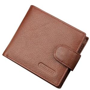 Men's Purse Short Man Wallets Natural Leather Men's Wallet High Quality Money Billfold Vintage Leather Money Bag Card Holder