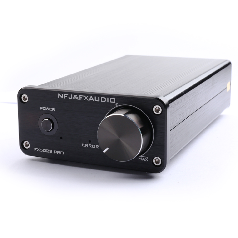 NFJ&FXAUDIO FX502S PRO HIFI 2.0 Audio Digital High Power Amplifier Home Mini Professional Amp TPA3250 NE5532 *2  70W *2