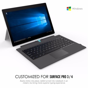 Image 2 - MoKo Type Cove for Surface Pro 7/ Pro 6 / Surface Pro 5 (Pro 2017),Lightweight Slim Wireless Bluetooth Keyboard with Two Button