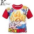 Hijo del DRAGÓN BOLA de la camiseta 3D de Dibujos Animados Dargon Bola bebé t-shirt ropa de los cabritos del desgaste de los niños 110-140 CM Camisetas PARA NIÑOS DC775