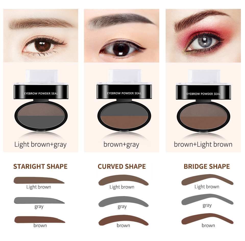Eyebrow Stamp Seal Palette Set Two Color Shadow Powder Waterproof Eye Brow Stamp Powder Natural Shape Eyebrows Powder Palette Eyebrow Enhancers Back To Search Resultsbeauty & Health
