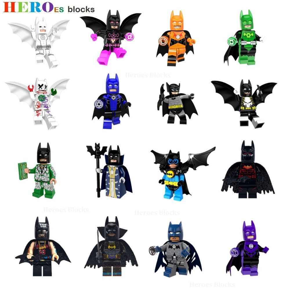 1pc Heroes The Dark Knight Batman Bruce Wayne Joker Jack Napier Building Blocks Figure Bricks Toys kids gifts Compatible Legoed