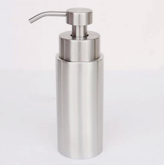 350ml Stainless steel soap scrub dispenser Empty foam hand sanitizer bottle cylindrical lotion bottles kitpag47436wns101 value kit procter amp gamble professional foam hand soap dispenser pag47436 and windsoft 101 bleached white embossed c fold paper towels wns101