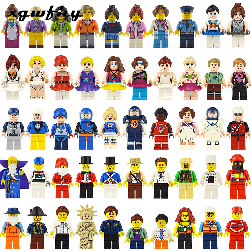 12-person Series Professional Building Blocks Mini Figure 3D Children DIY Toys Boys And Girls Children Christmas Gifts JM227