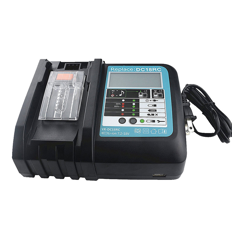 все цены на 7.2V-18V USB Power Tool Li-Ion Battery LCD Screen Charger for Makita US EU UK AU plug Black