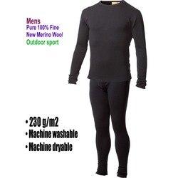 الرجال الذكور 100% الصوف ميرينو النقي الشتاء قاعدة طبقة الحرارية معطف شتاء الملابس الداخلية تنفس منتصف الوزن القمم السراويل أسفل مجموعة
