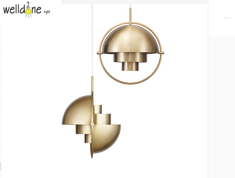 Interior half ball circle hanging lamp gold color for restaurant plated single head nordic style Interior half ball circle hanging lamp gold color for restaurant plated single head nordic style