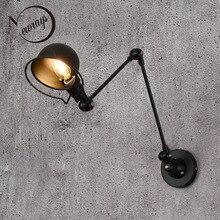 Loft Vintage industrial jielde lámpara de pared ajustable de brazo largo que recuerda las luces de pared retráctiles E14 LED para el dormitorio sala de estar