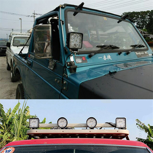 Image 5 - Okeen Gigger Size 4 Inch Led Light Bar 18W 48W Spot Flood 12V 24V Off Road auto 4WD Truck Tractor 4X4 Suv Led Verlichting