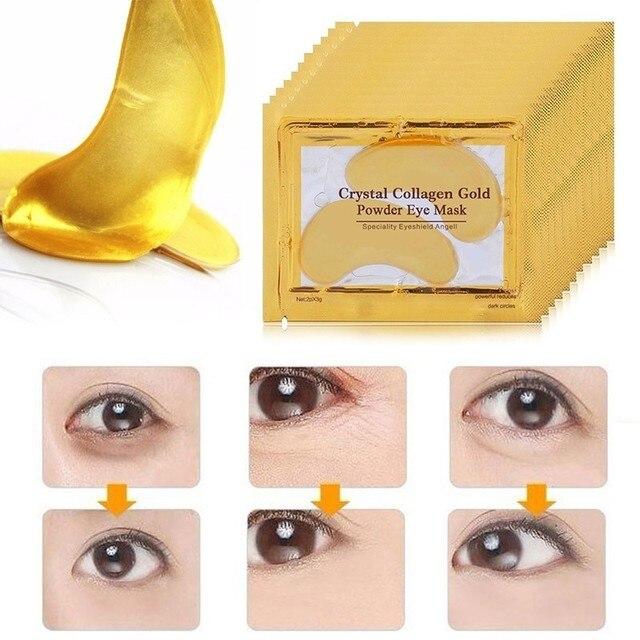 20pcs=10packs Gold Masks Crystal Collagen Eye Mask Eye Patches For The Eye Anti-Wrinkle Anti Aging Remove Dark Circles Eye Care